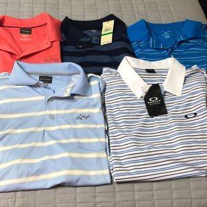 Lot of 5 men's golf shirts wholesale large #9